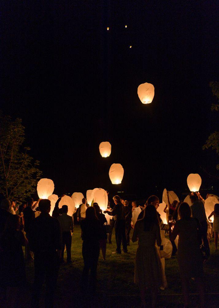 Floating Lanterns At Wedding Reception In 2019 Wedding Inspiration