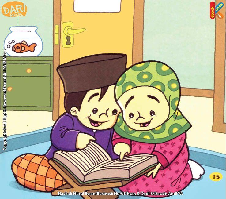 ✓ Terbaik Gambar Kartun Anak Membaca Al Quran