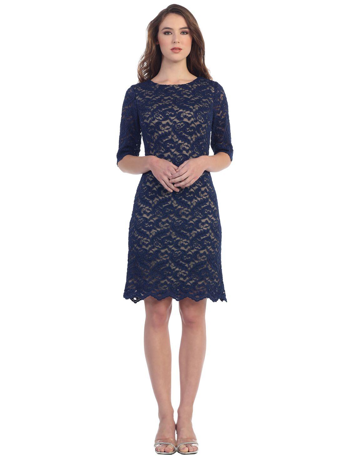 quarter sleeve cocktail dress xl color dress pinterest lace