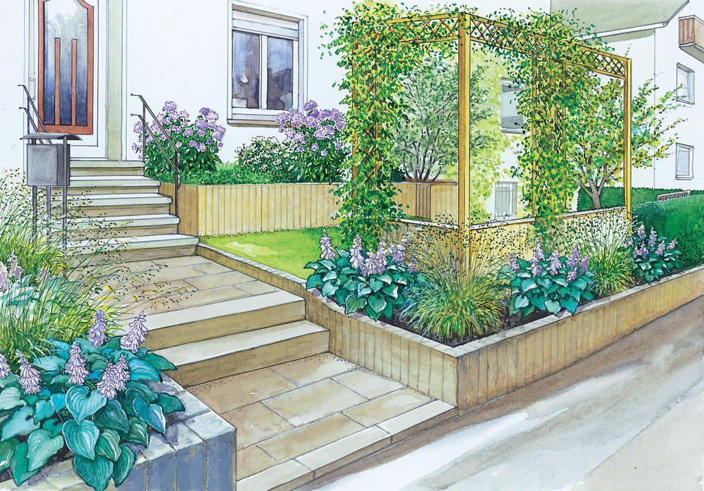 Gartenideen Fur Einen Pflegeleichten Vorgarten Vorgarten Garten Garten Ideen