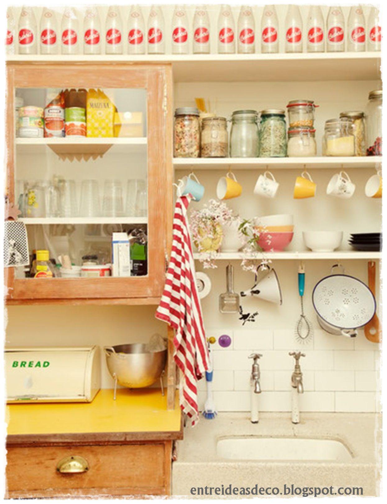 Decoracion paneras vintage cocina ideas para el hogar for Adornos para repisas