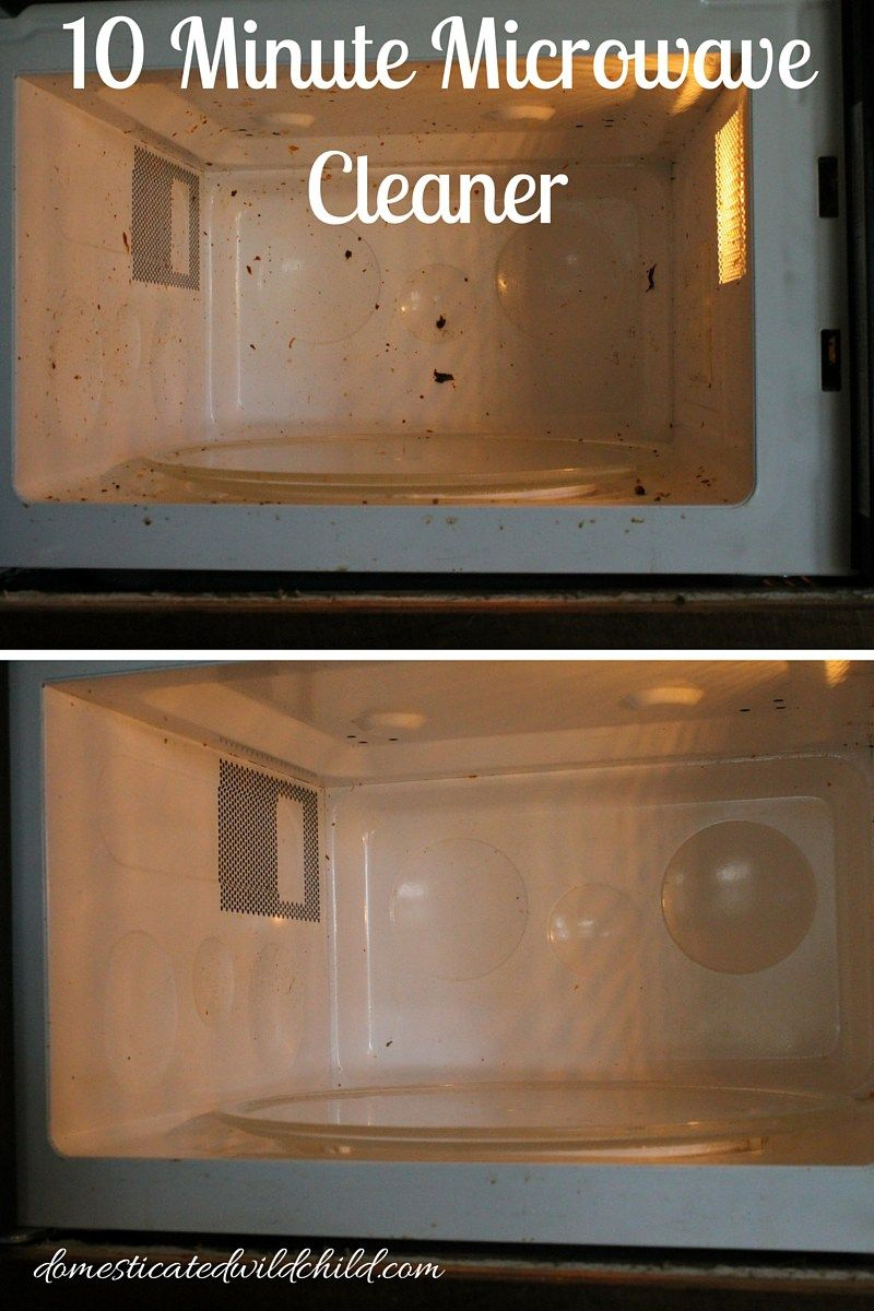 10 Minute Microwave Cleaner