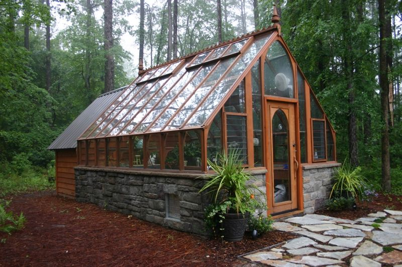 12 x 16 Tudor Greenhouse attached to customer's shed