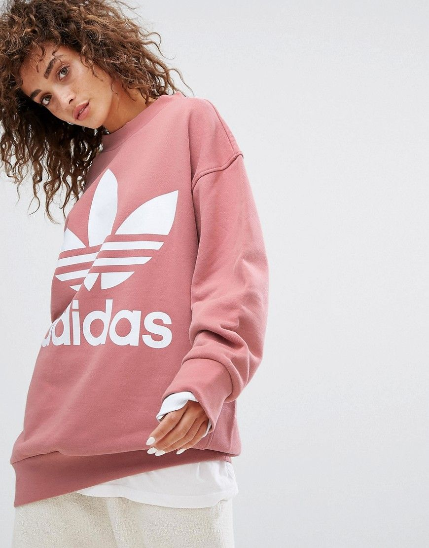 ADIDAS ORIGINALS ADIDAS ORIGINALS OVERSIZED SWEATSHIRT IN PINK - PINK.   adidasoriginals  cloth   8cd96e50b89