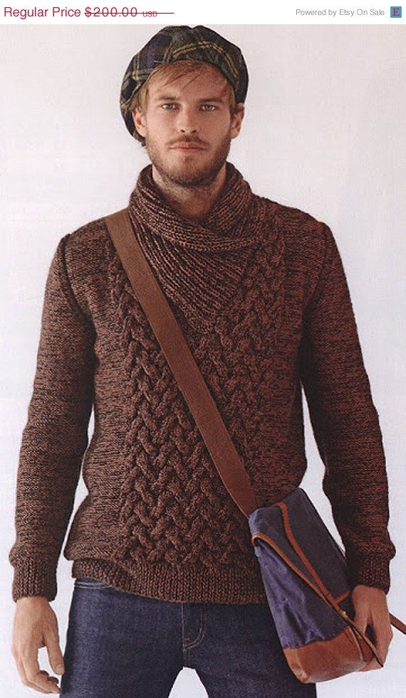 ON SALE MADE To Order men\'s sweater hand knitted men sweater ...
