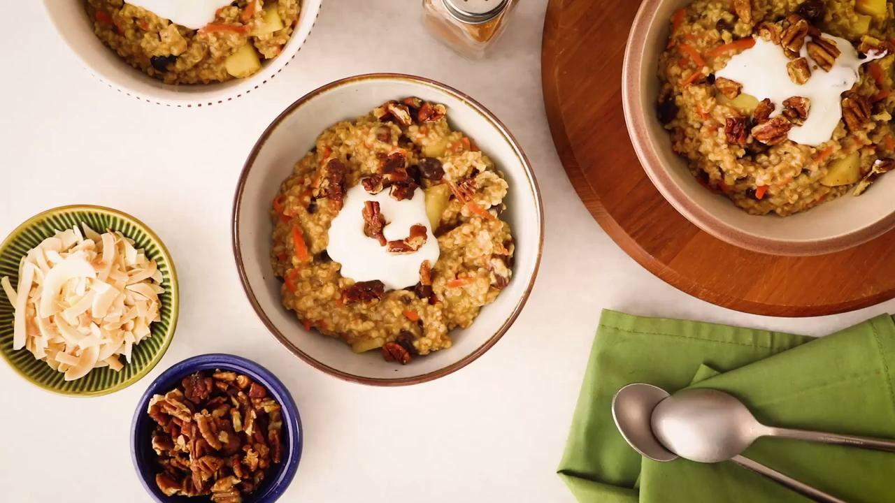 Carrot cake oatmeal recipe carrot cake oatmeal