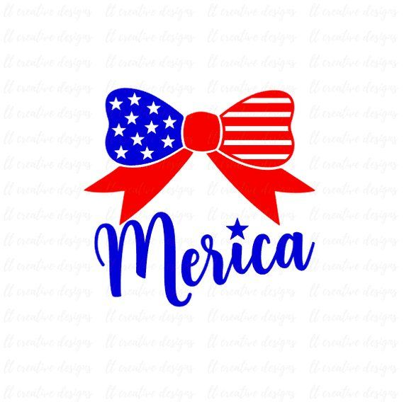 Merica 4th of July Bow SVG, Fourth of July SVG, 4th of July Svg, Patriotic SVG, America Svg, Svg Files, Cricut Files, Silhouette Files #programingsoftware