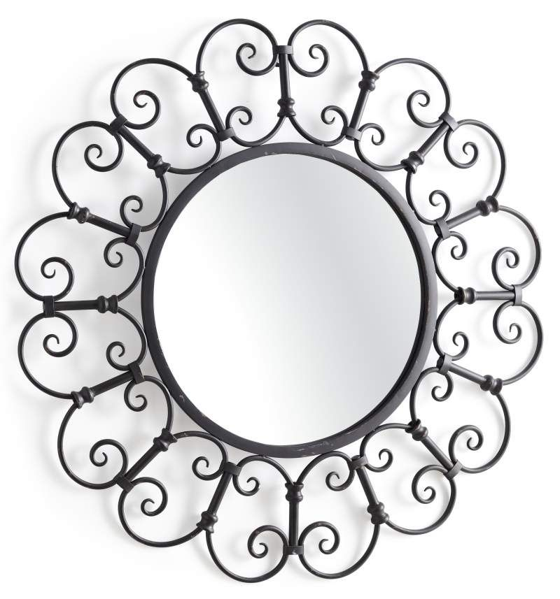 The Old World Design Of Our Black Trellis Mirror Takes Floral Shapes In A New Direction Mirror Wall Decor Mirror Wall Mirror