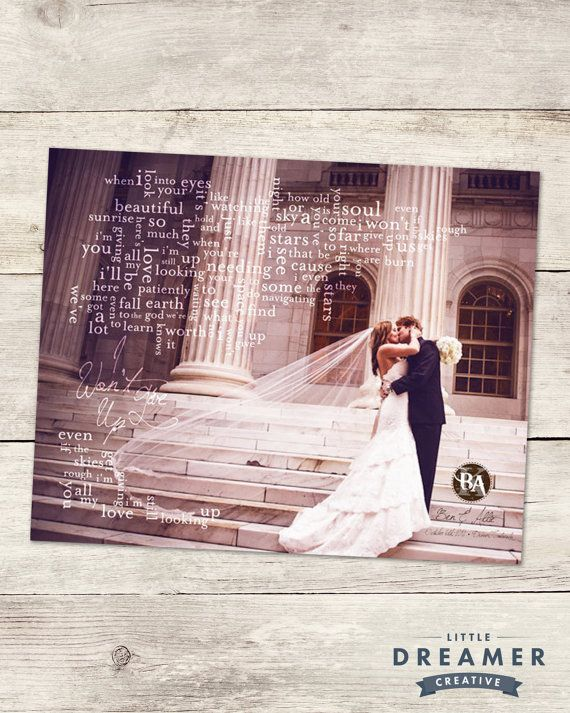 Wedding Song Lyric Art Couples First Dance Made To Order Photo