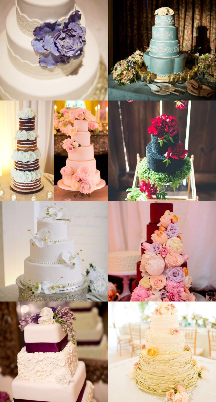 Feast Your Eyes on These 18 Pin-Worthy Floral Wedding Cakes. To see more: http://www.modwedding.com/2013/12/29/18-pin-worthy-floral-wedding-cakes/ #wedding #weddings #weddingcake #cake #dessert