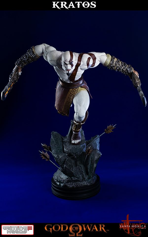 PreOrder Gaming Heads God Of War Kratos Statue Statues - China unveils colossal 1320 ton god of war statue