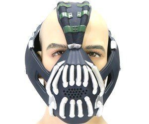 Batmans final nemesis from the dark knight trilogy has the bane mask costume batman tdkr full adult size new version xcoser batman tdkr replica mask bane style in the movie non collection high level latex material solutioingenieria Choice Image