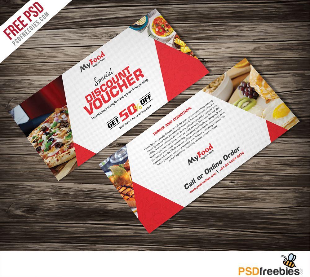 Discount Voucher Free Psd Template Psdfreebies Com Gift Card Template Psd Template Free Party Invite Template