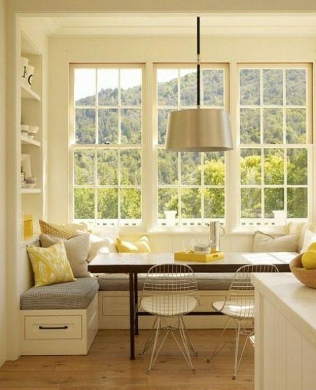 Coin Repas Convivial Grace A Une Banquette D Angle Design Sweet Home Modern Farmhouse Kitchens Home