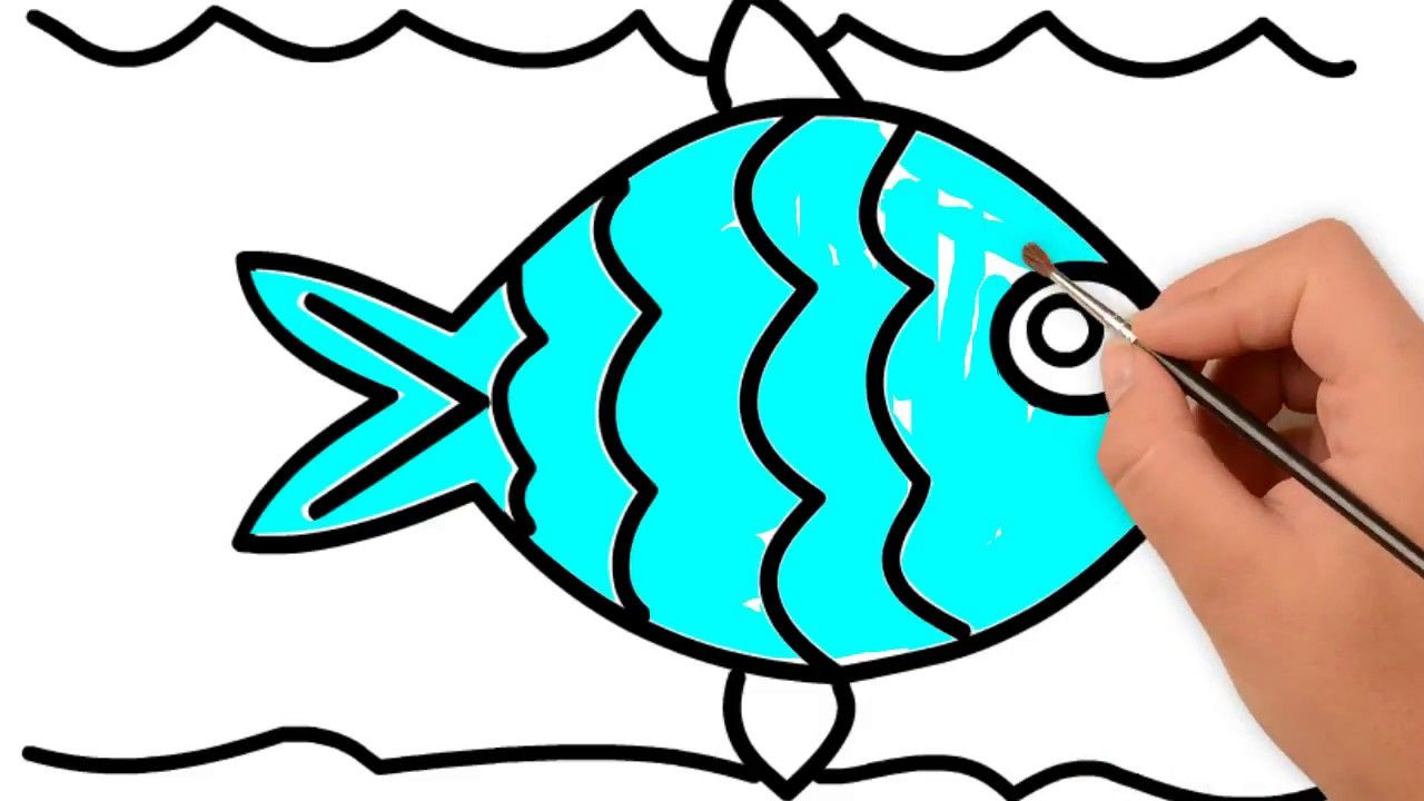 Fish Coloring Pages How To Draw And Color A Fish For Kids Cartoon Wor Fish Coloring Page Coloring Pages Cartoon Kids