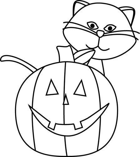 Cat Pumpkin Line Drawg Halloween Pictures Halloween Graphics Halloween Clips