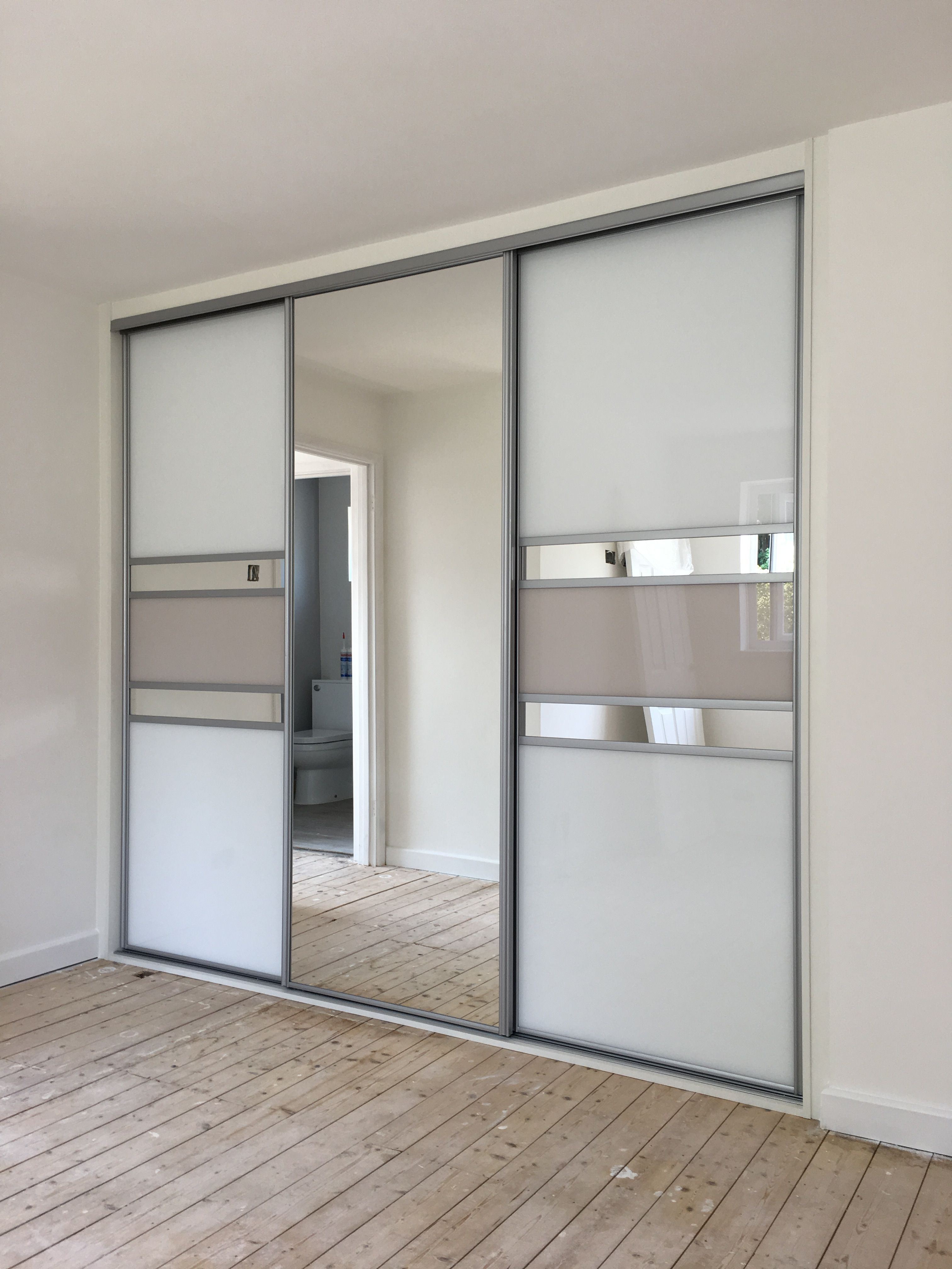 This Made To Measure Wardrobe Features Silver Frame Multi Panel