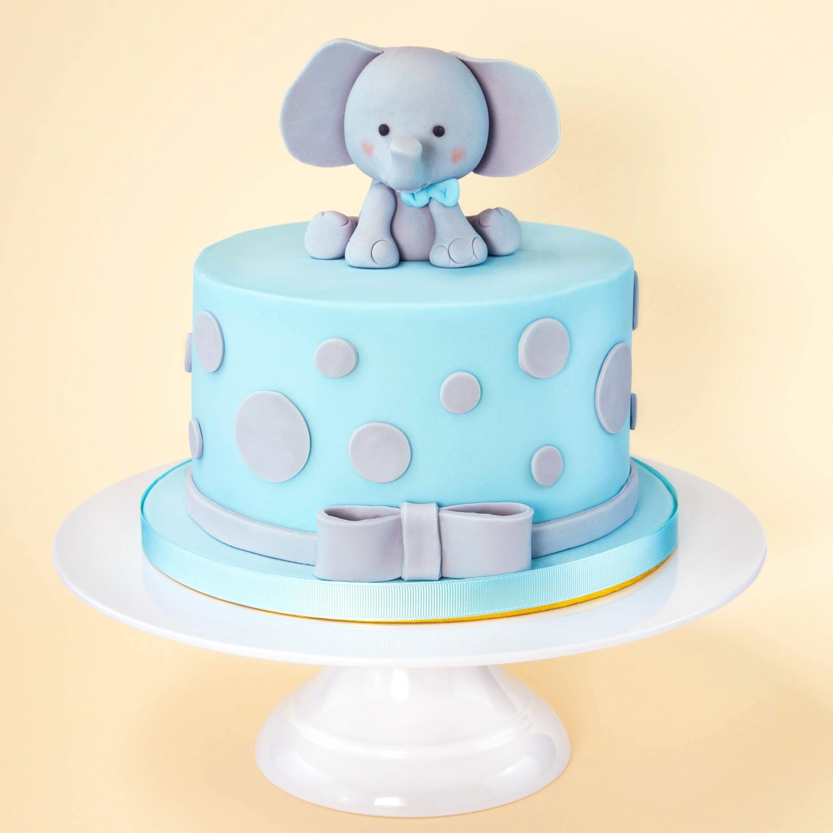Birthday Cake Decoration For Baby Boy Baby Boy Cake Idea Blue Elephant Fondan Elephant Baby Shower Cake Baby Shower Cakes For Boys Baby Shower Cake Toppers Boy