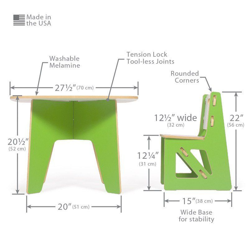Tremendous Dimensions For Modern Kids Table And Chair Set Table And Complete Home Design Collection Barbaintelli Responsecom
