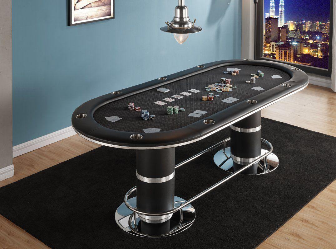 """96"""" Texas Hold'em Poker Table Set in 2020 Custom poker"""