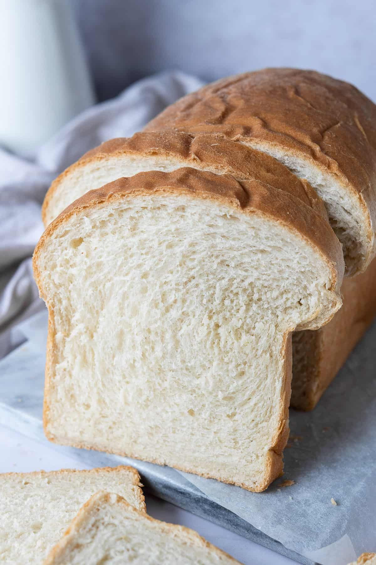 Vegan white sandwich bread - this vegan white bread loaf ...
