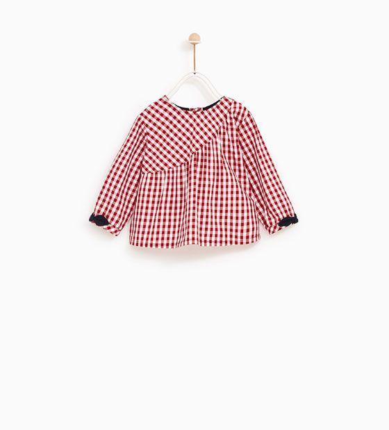 Zara Kids Gingham Check Shirt Kinder Kleider Kinderkleidung Kind Mode
