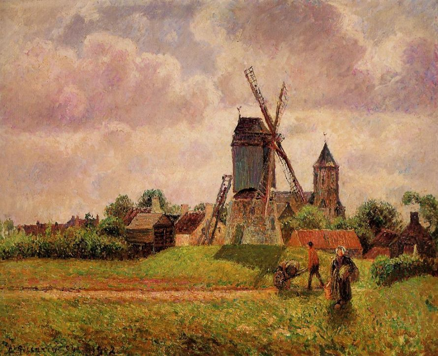 The Knocke Windmill, Belgium, by Camille Pissarro, between 1894-1902
