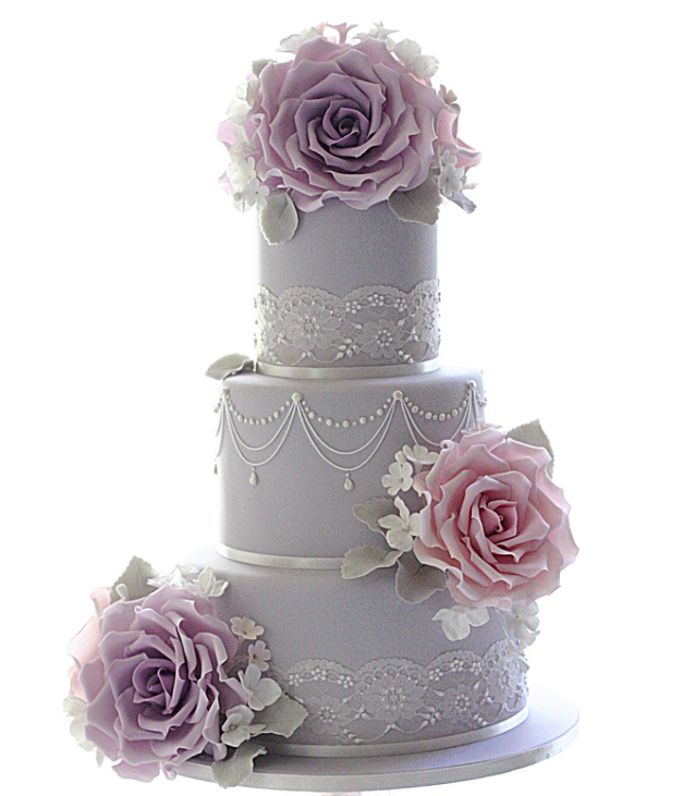 weddin-cakes-ideas-14-01182014. ❤️So pretty but in white and the flowers of your blush color.❤️