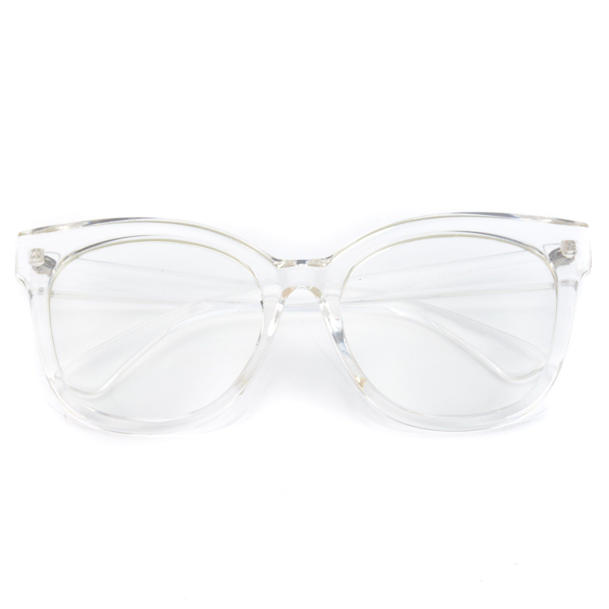 Whiskey Oversized Thick Frame Clear Non-Prescription Glasses ...