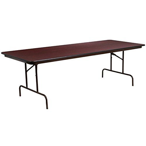 Flash Furniture 36 X 96 In. Rectangular Mahogany Laminate Folding Banquet  Table   With This Flash Furniture 36 X 96 In. Rectangular Mahogany Laminate  ...