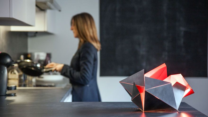 Get Creative And Build Your Own Design Lamp | Bored Panda With the Folding Lamp concept you participate in the creative process.
