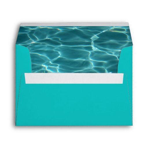 Aqua Green Swimming Pool Photo Envelope Zazzle Com Swimming Pools Swimming Envelope Design
