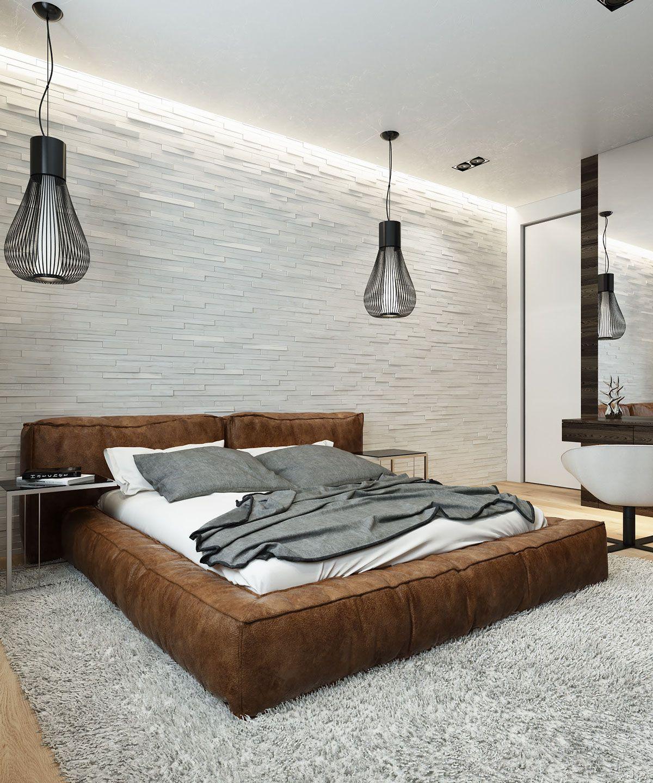 Soho Tufted Leather Platform Bed