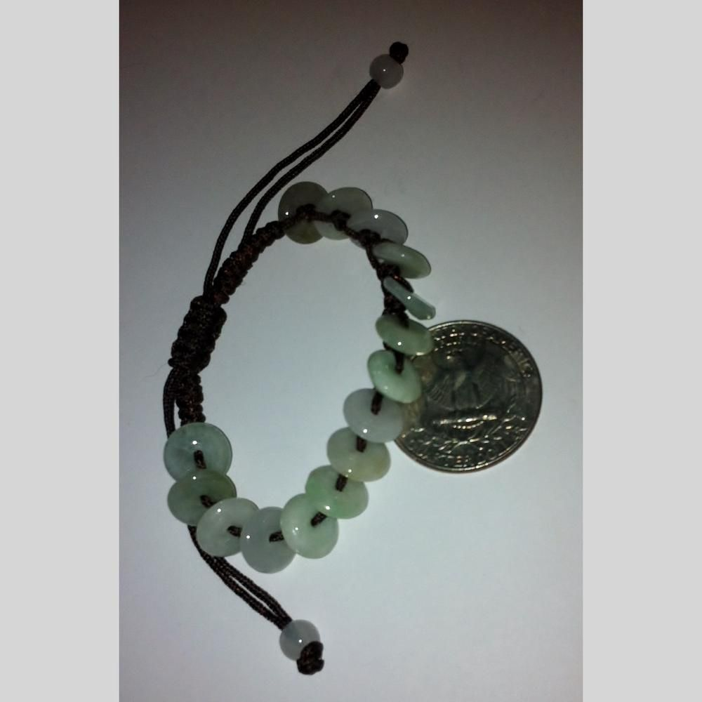 pre-owned LOT 2 pieces oriental Chinese faux jade stone costume jewelry bracelet braided cord | Scott's Marketplace