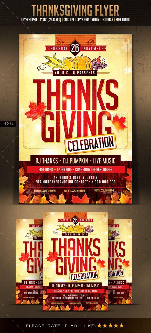 Thanksgiving Flyer Pinterest Flyer Template Thanksgiving And