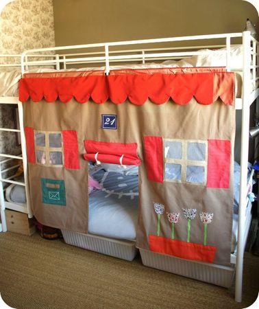 Diy Bunk Bed, Loft Bed Curtains Diy