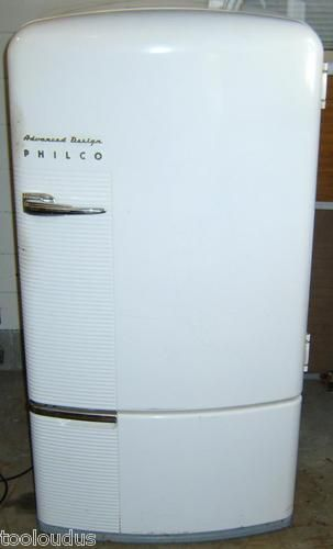 1940s Antique Philco Refrigerator With Original Owners Manual Works Great Nice