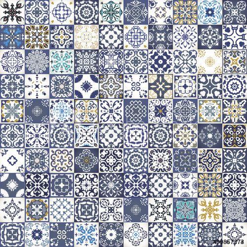 Gorgeous floral patchwork design Colorful Moroccan or - badezimmervorlagen kleine wolke
