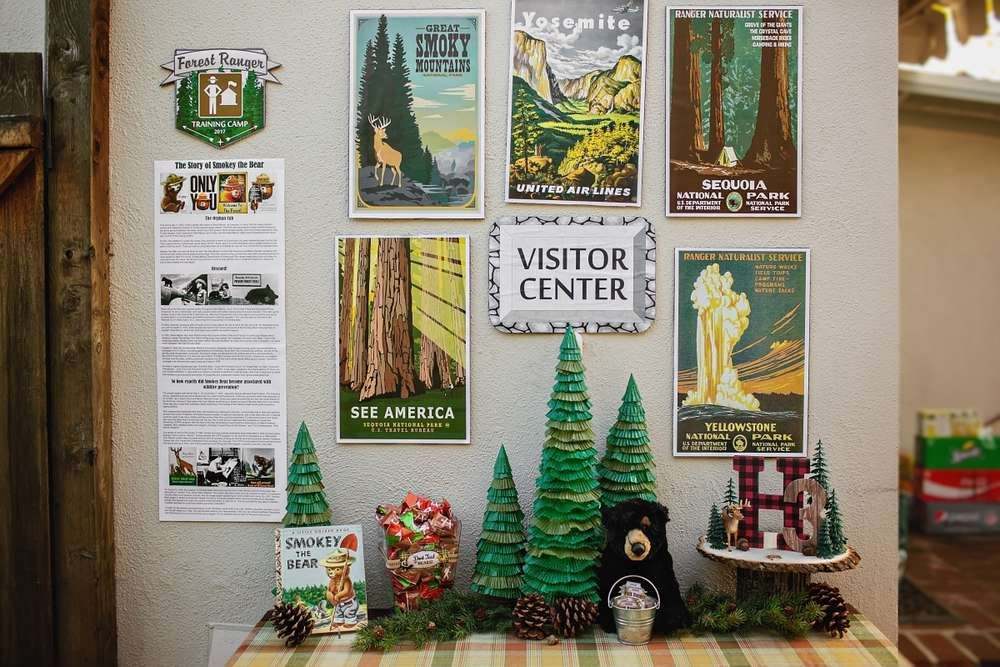 Vintage National Park, National Forest, Smokey the Bear