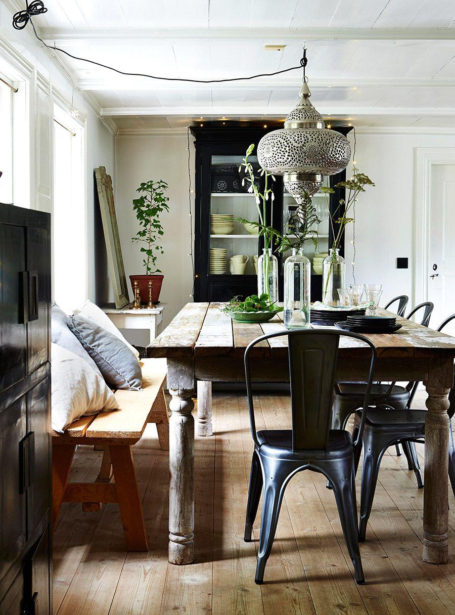 Silla Tolix negra. | Future home inspiration | Pinterest | Esszimmer ...