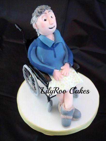 Persoon in rolstoel taart topper (Lilyroo Cakes)