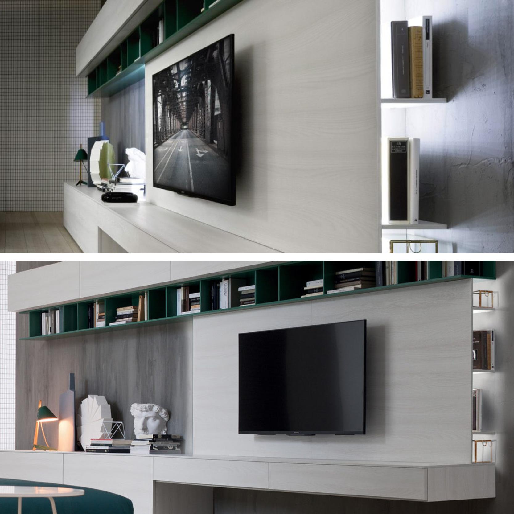 Il Pannello Porta Tv Play Caratterizzato Dalla Presenza Di  # Meuble Tv Plasma Design Divano