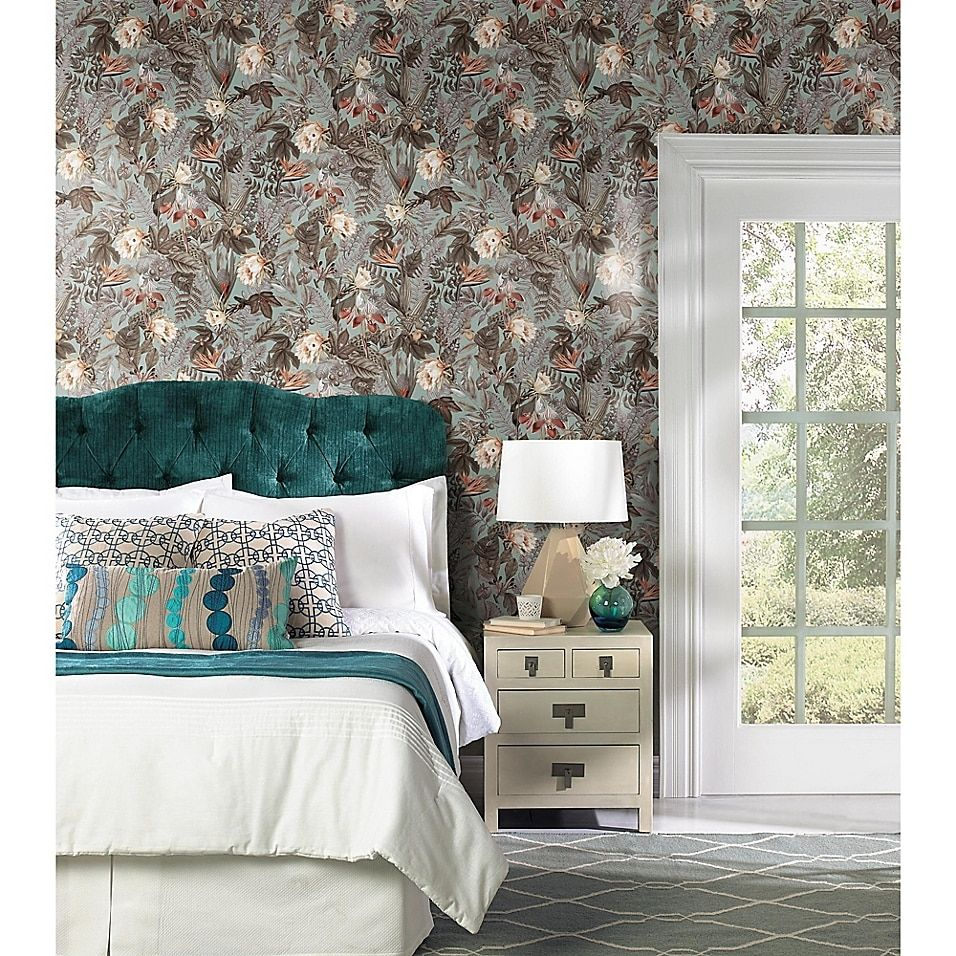 Roommates Tropical Flowers Peel Stick Wallpaper Bed Bath Beyond Roommate Decor Peel And Stick Wallpaper Room Visualizer