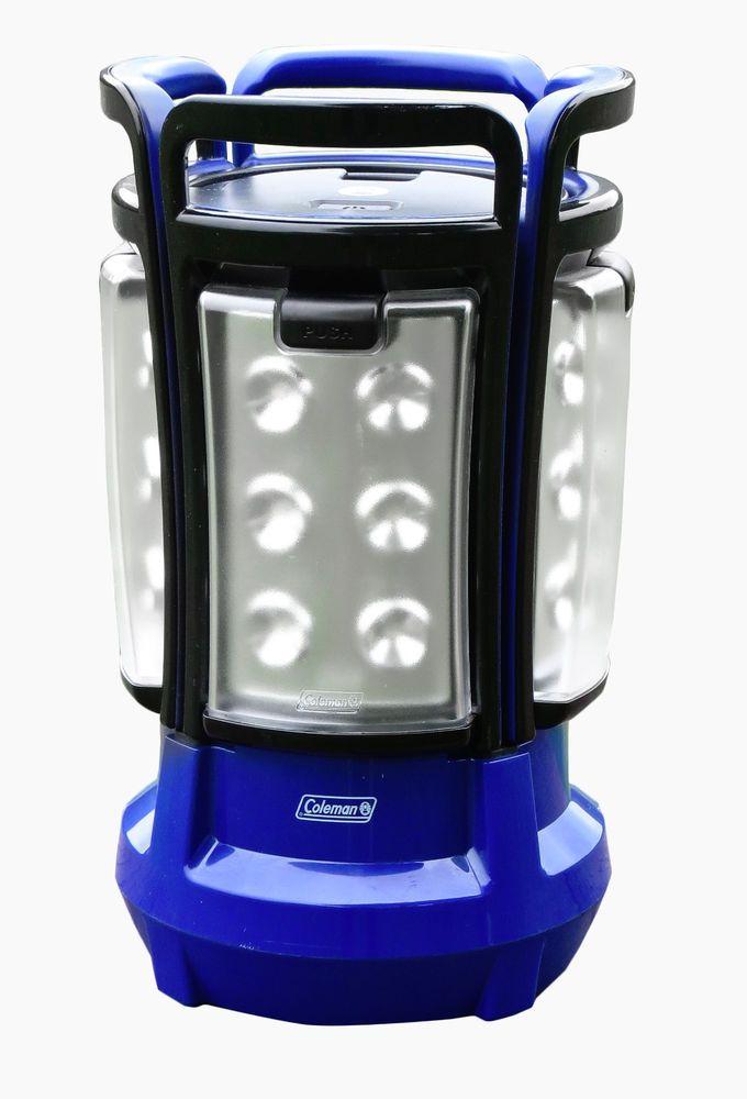 Coleman Quad Led Lantern Blue Black 2000001150 Camping Outdoor