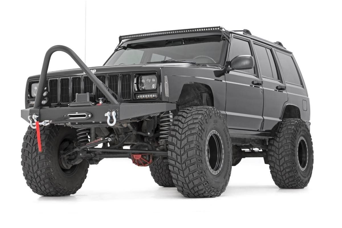 Amazon Com Rough Country 10570 Front Winch Bumper For Jeep