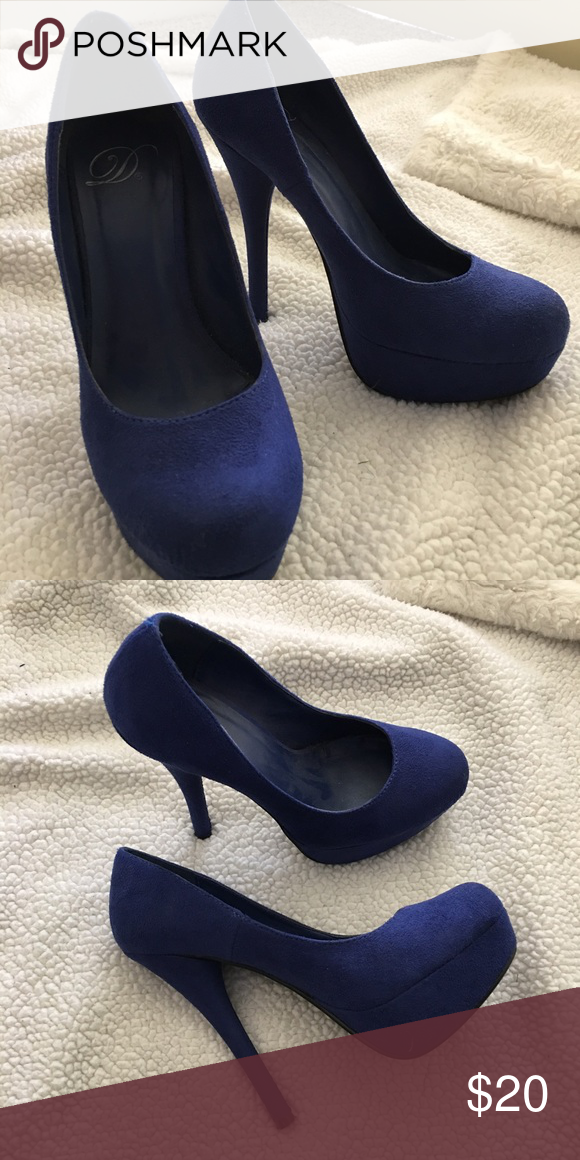 3dc8fd455bdc Royal Blue Pumps Excellent condition
