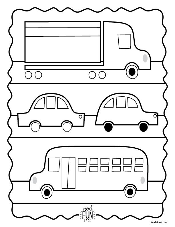 Nod Printable Coloring Page Vroom Vroom Printable Coloring