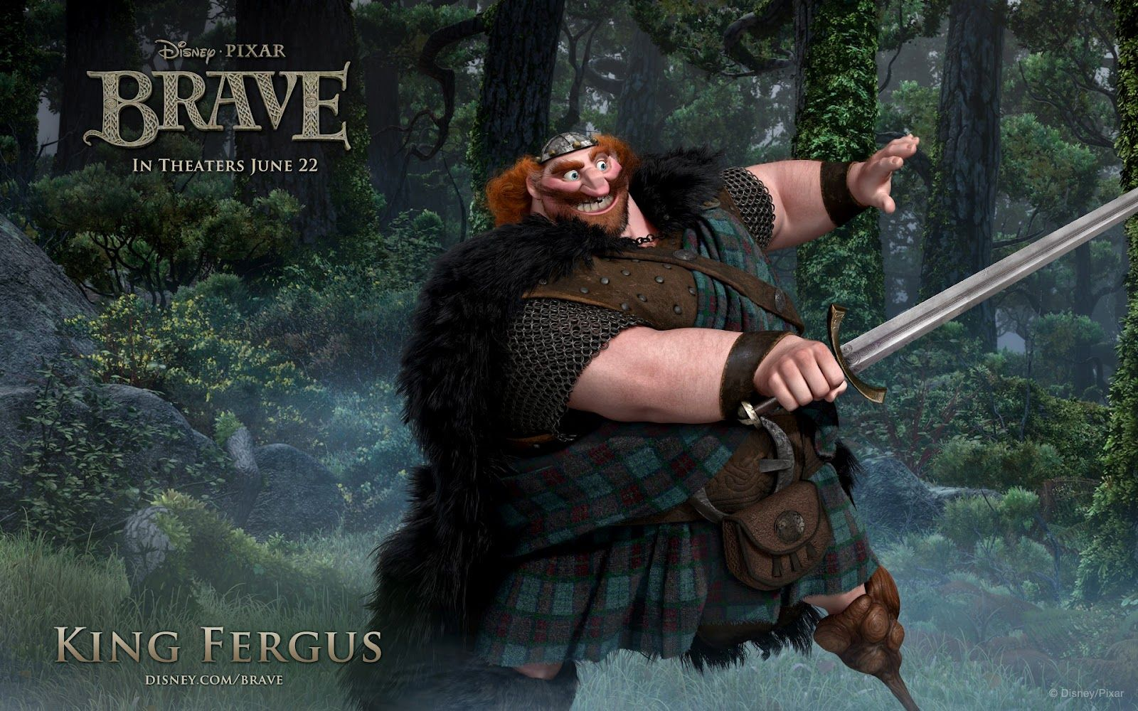 Brave Movie Character King Fergus HD Wallpaper (With ...