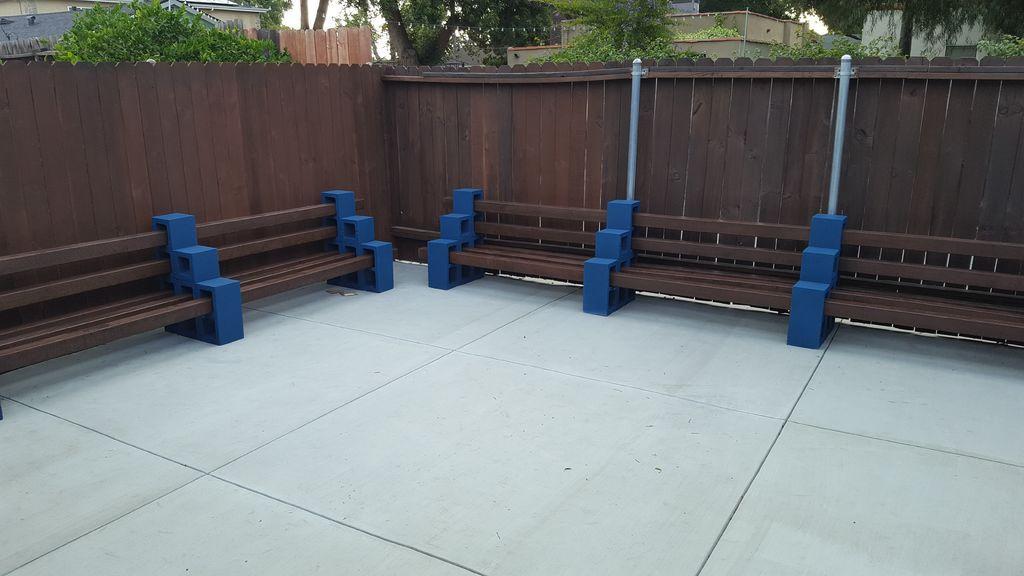 Pleasing Easy Outdoor Cinder Block Benches Schroon Lake Cinder Creativecarmelina Interior Chair Design Creativecarmelinacom