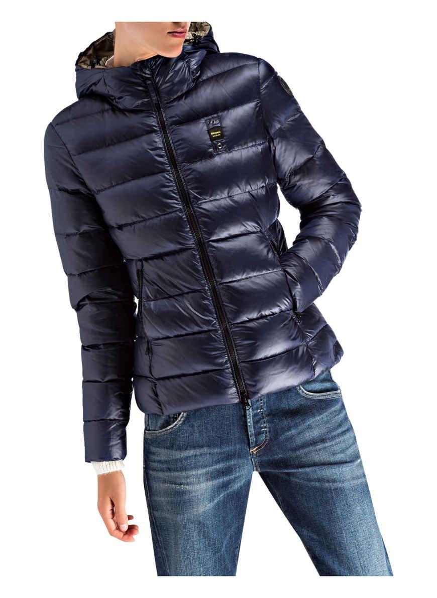 Blauer Daunenjacke Farbe Blau Bild 3 Daunenjacke Jacken Daunen Jacke
